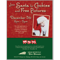 Santa Visits and Free Pictures