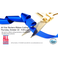 Ribbon Cutting for All Star Barbers