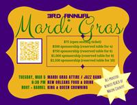 3rd Annual Mardi Gras Dinner Party Fundraiser