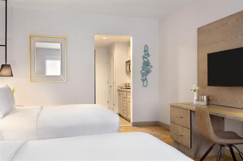 2 Queen Bed Guestroom w/ Kitchenette