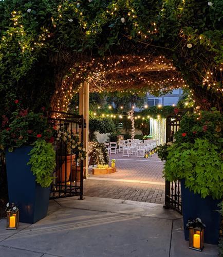Outdoor Garden Terrace - Evening Ceremony