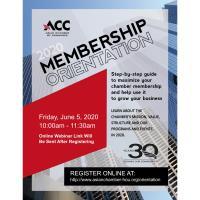 ACC Membership Orientation - June