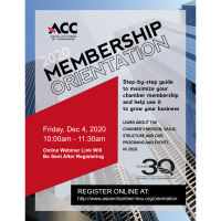ACC Membership Orientation - Dec