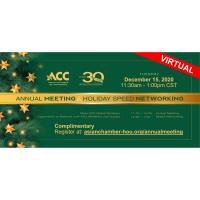 2020 Annual Meeting and Holiday Speed Networking