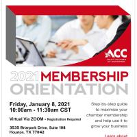 ACC Membership Orientation - January 2021