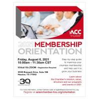 ACC Membership Orientation - August 2021