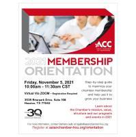 ACC Membership Orientation - November 2021