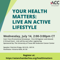 Your Health Matters: Live an Active Lifestyle
