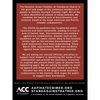 A Statement of Support for STOP ASIAN HATE
