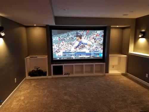 "100"" screen and home theater"