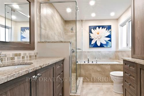 We do all kinds of bathroom remodels - from a new light fixture to a whole room makeover!