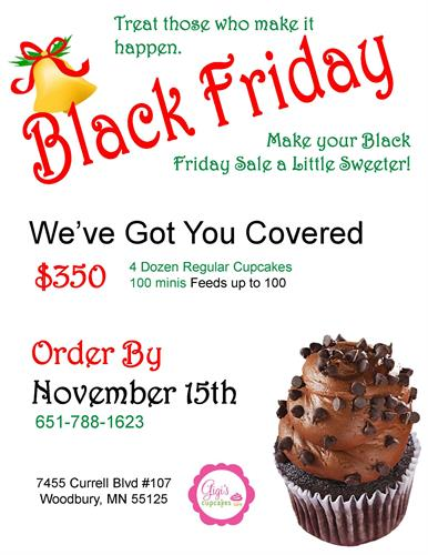 Gigi's Cupcakes Black Friday Special
