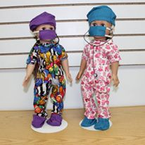 Doll scrub outfits