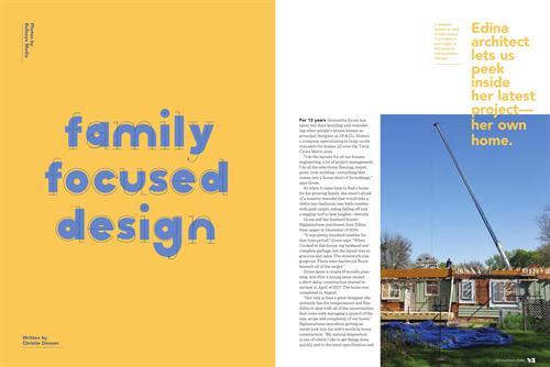 Freelance Writer. Magazine Feature Article - Edina Magazine