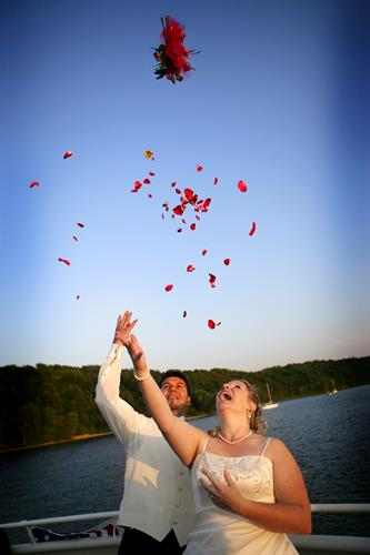Wedding Couple on Afton Princess Charter Boat