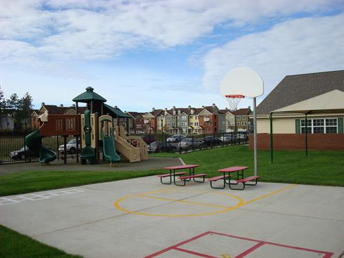 Our Private Kindergarten and Pre-K have their own playground.