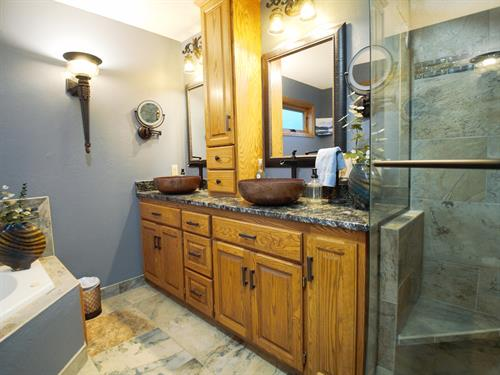 Master Bath Makeover in Woodbury - We gave them a larger shower!