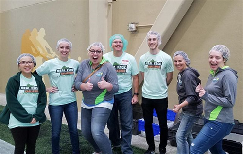 We teamed up with Big Frog of Woodbury and packed an amazing 6,480 meals! Go team!