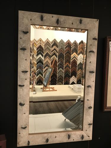Need a certain size mirror or want one framed for a different look, we have options.