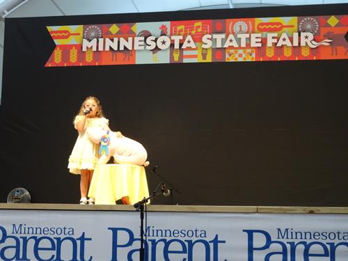 Superstar music student (Aria I.) performing her talent-show-winning song at the MN State Fair!