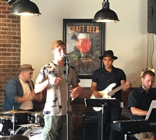 Music phenom (Max D.) performing a concert gig at the Waconia Brewery!