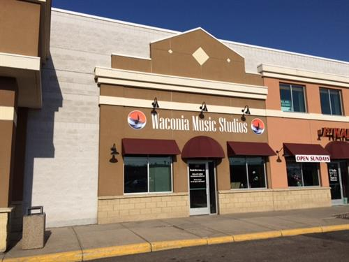 Waconia Music Studios: located in Waconia Square, same building as 1st Nails, Waconia Brewery, and (the new location of) Domino's