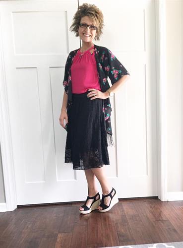 Lola Skirt and Monroe Kimono