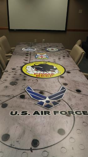 Custom conference table for USAF