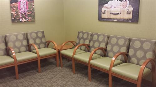waiting area at healthcare clinic