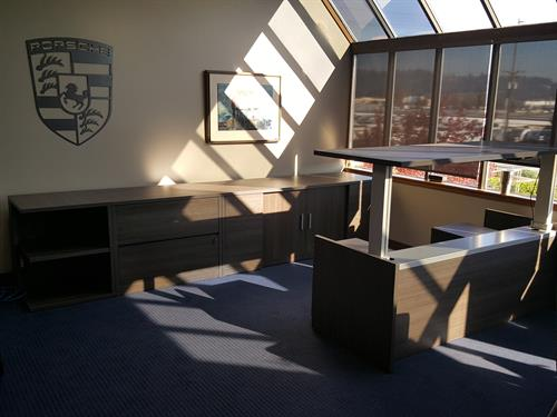 custom height adjustable executive desk