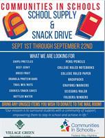 Community In Schools Supply & Snack Drive