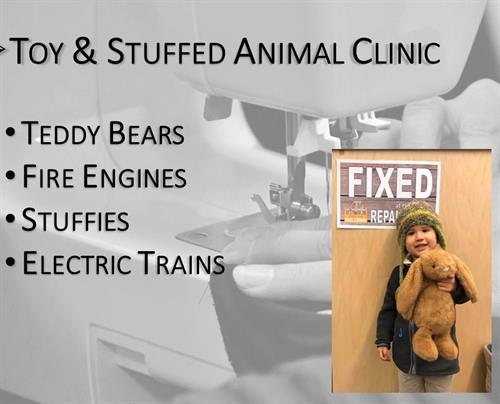 Children visited the South King Tool library for a toy and stuffed animal repair clinic.