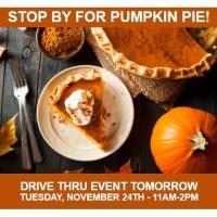 STOP BY FOR PUMPKIN PIE!