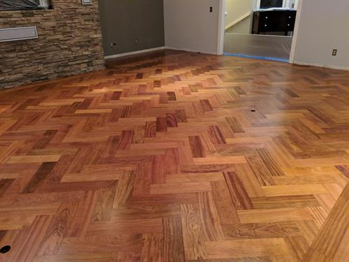Custom Herringbone installation