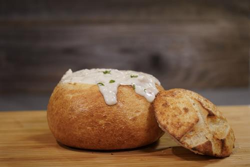 Clam Chowder Bread Bowl!