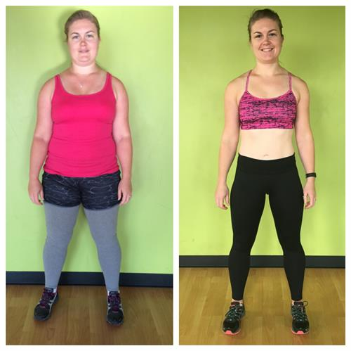 Sarah lost 60lbs and 54 inches in 6 months!