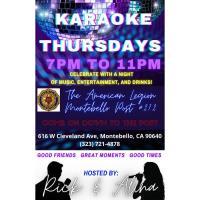 American Legion Post 272 Karaoke Thursdays