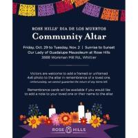 Rose Hills Dia De Los Muertos Community Altar