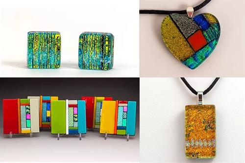 Fused glass by Artist Stephen Palmer