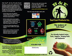 Safe Seal brand asphalt sealcoat material ,  always use NON coal tar products