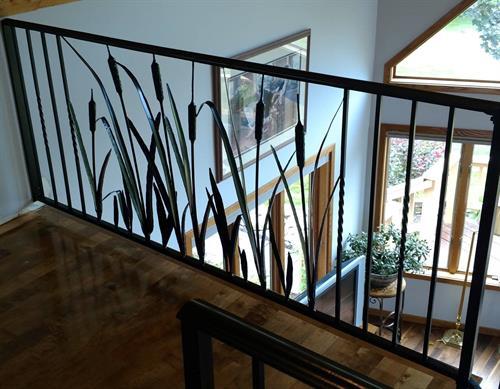 Cattail landing handrail