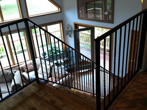 Cattail handrail