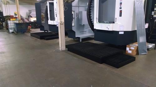 Machine work platform