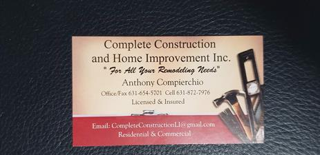 Complete Construction and Home Improvement Inc.