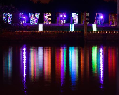 Reflextions Riverhead Art & Light Installation