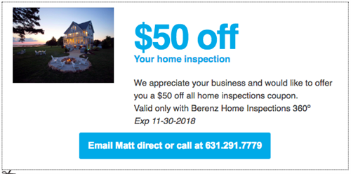 Save $50 on all home inspections through Nov 30!!