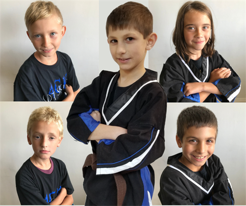 Kids learn leadership through martial arts training.