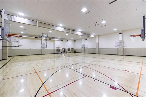 Basketball Gym - full-sized, with room for 2 full court games playing simultaneously!