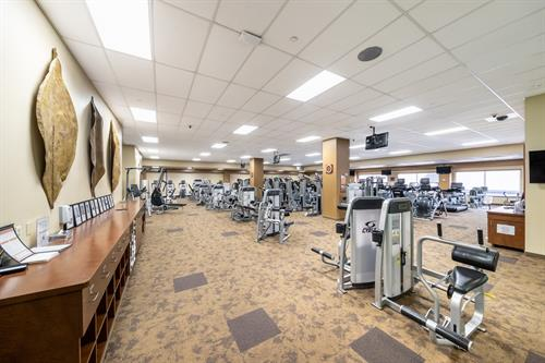 ClubSport San Ramon's large fitness floor has state of the art equipment.
