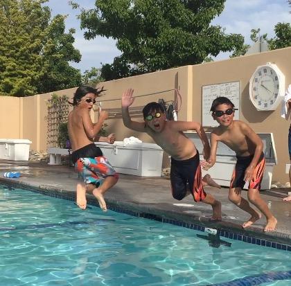 Swim team fun at ClubSport San Ramon